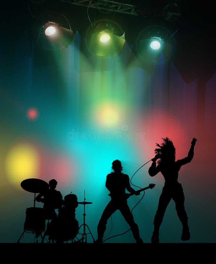 Aviso del concierto de rock ilustración del vector