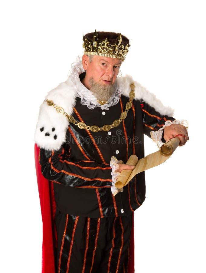 Aviso del rey fotografía de archivo