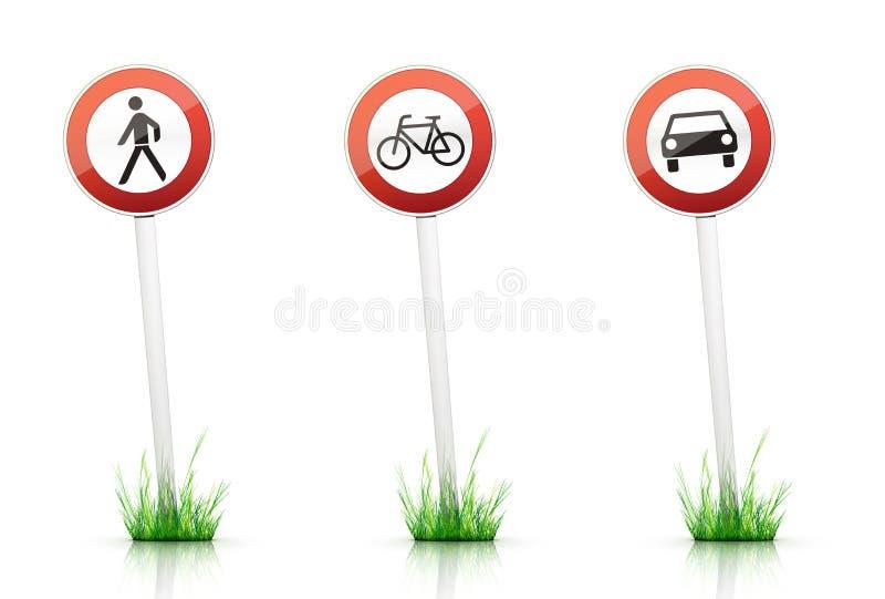 Aviso do â do sinal de tráfego ilustração royalty free