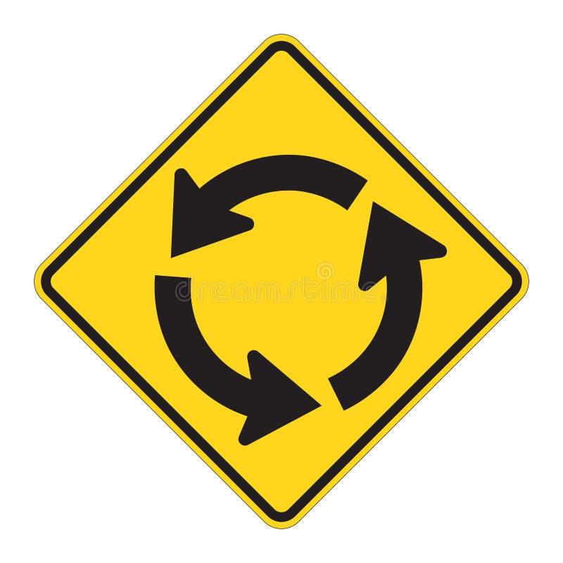 Aviso do sinal de estrada - circular mim ilustração do vetor