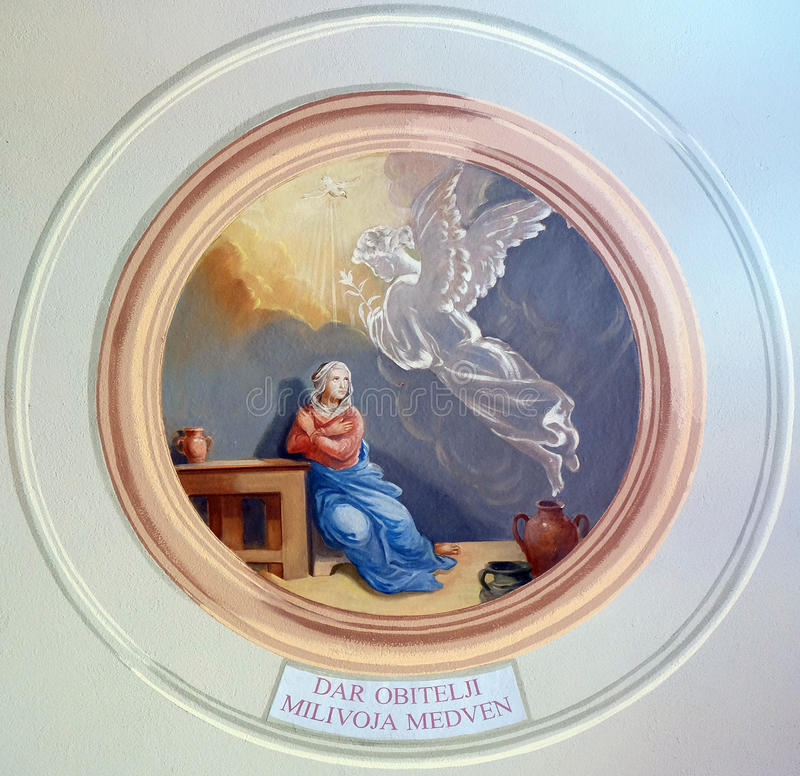 Aviso do Virgin Mary imagem de stock royalty free