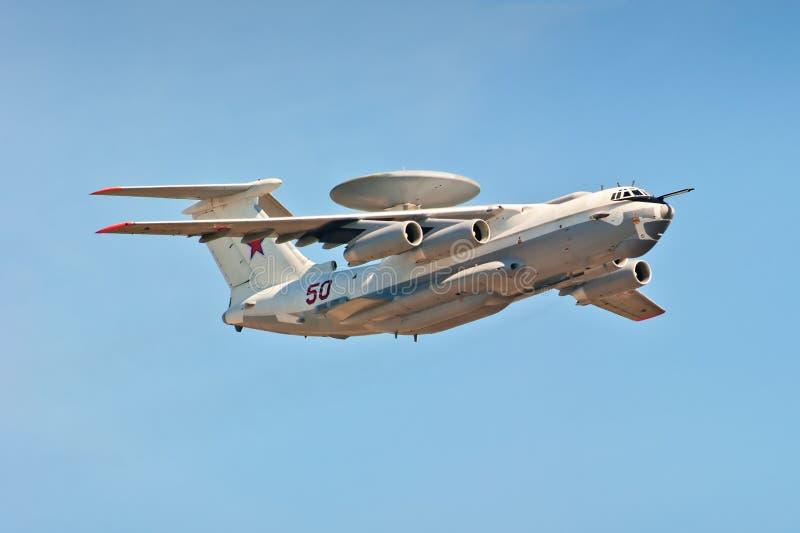 aviso e controle transportados por via aérea do Multi-plano A-50U foto de stock