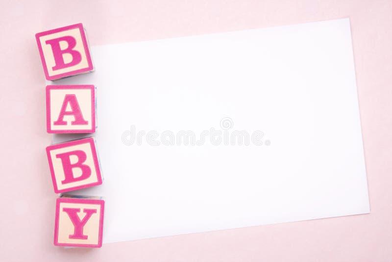 Aviso en blanco del bebé imagen de archivo libre de regalías