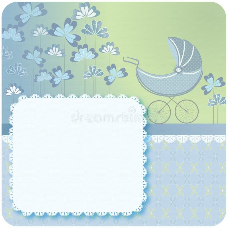 Aviso recién nacido del bebé stock de ilustración