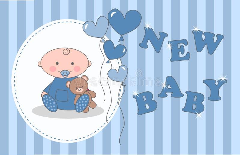 Aviso recién nacido del bebé ilustración del vector