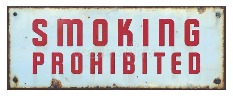 Aviso retro prohibido de no fumadores de los posts de muestra del vintage imagen de archivo libre de regalías