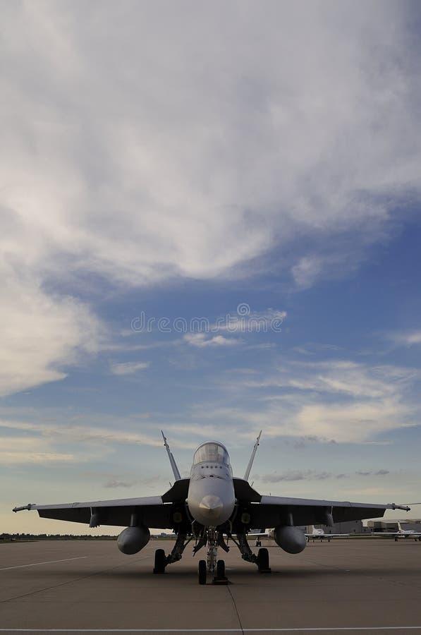 Avispón marina F/A-18 de los E.E.U.U. foto de archivo libre de regalías