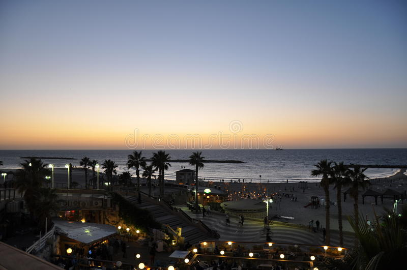 aviv前以色列海运tel 免版税库存照片