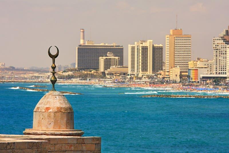 aviv海岸线tel视图 免版税库存照片