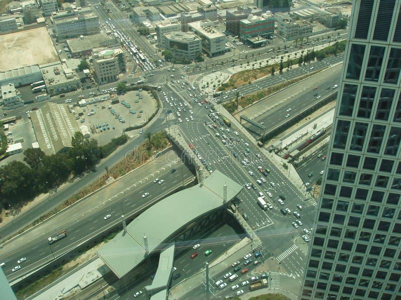 aviv κυκλοφορία του Ισραήλ τηλ. στοκ φωτογραφία με δικαίωμα ελεύθερης χρήσης