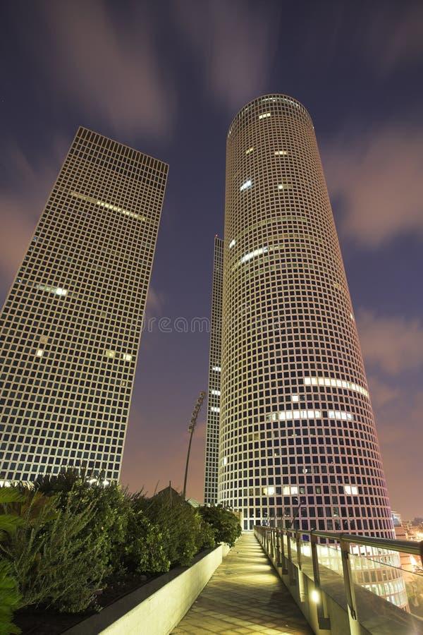 aviv ουρανοξύστες τηλ. επιχ&ep στοκ εικόνες
