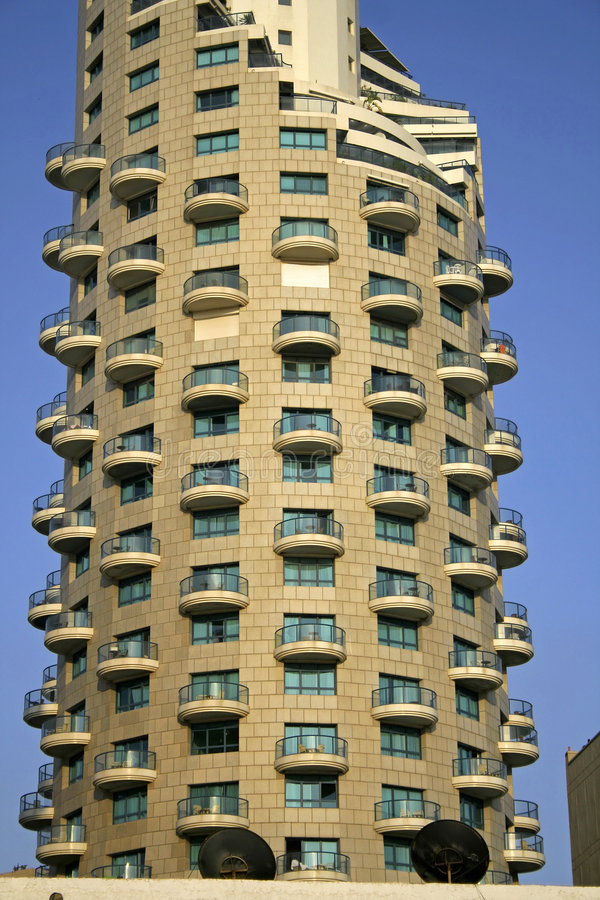 aviv πύργος ξενοδοχείων τηλ. στοκ φωτογραφίες