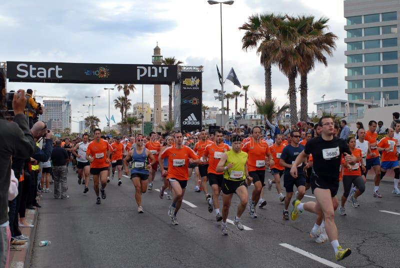 aviv maratonu tel zdjęcia stock