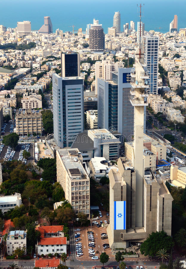 Aviv-Stadtbild stockfotos