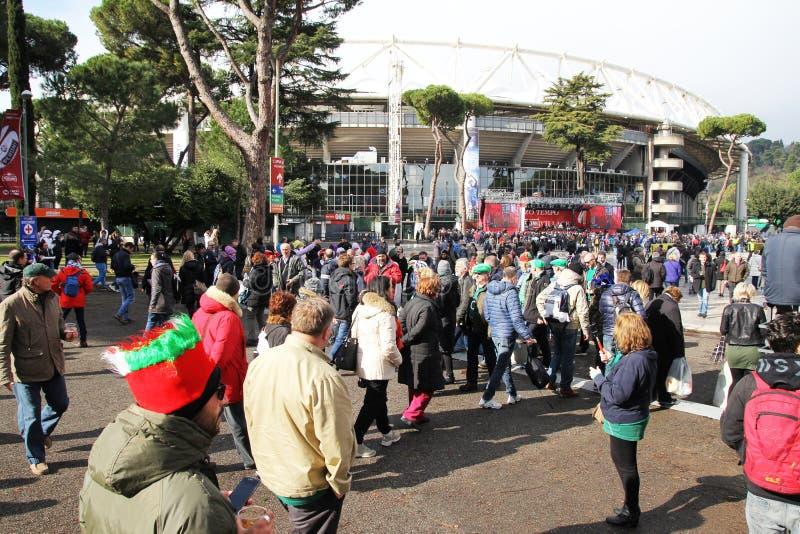 Aviva el estadio Olímpico imagen de archivo