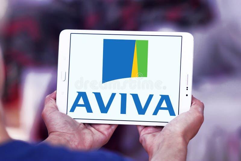 Aviva Insurance Company Logo fotos de archivo