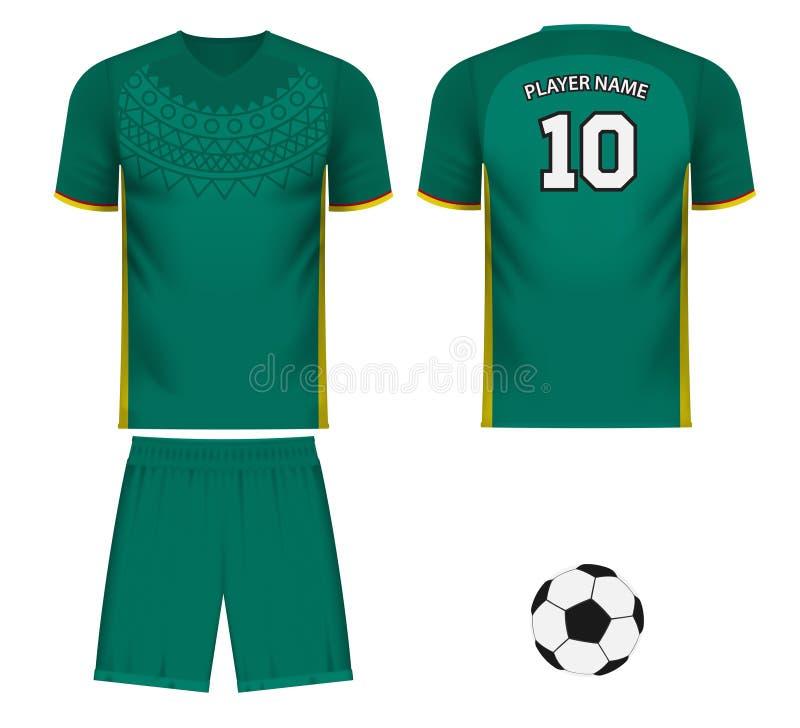 Avive la camiseta de los deportes en colores genéricos de Senegal stock de ilustración