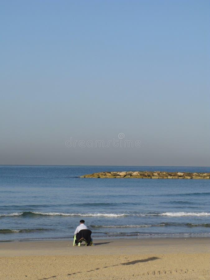 avivstrandintel israel medelhavs- hav fotografering för bildbyråer