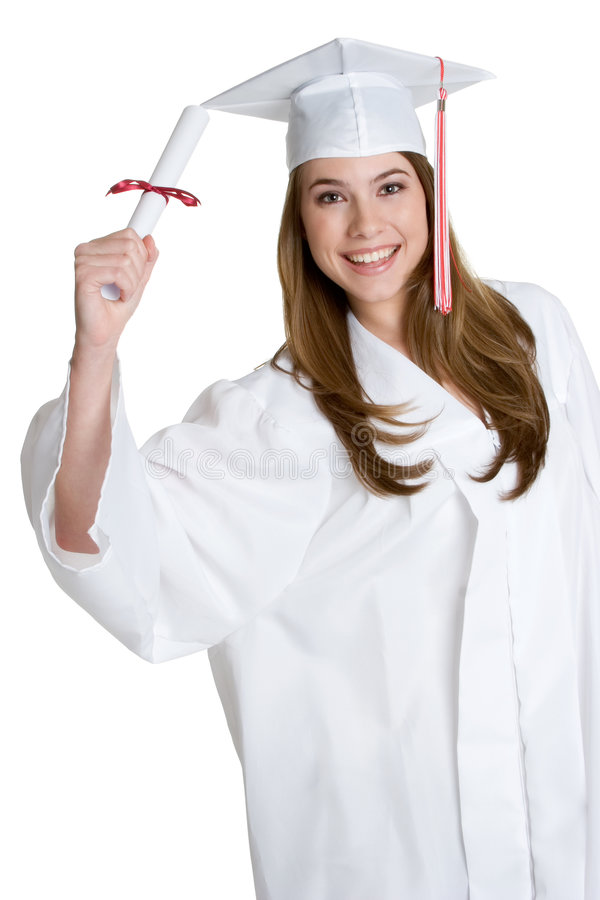 avlägga examen för flicka som är teen arkivfoto