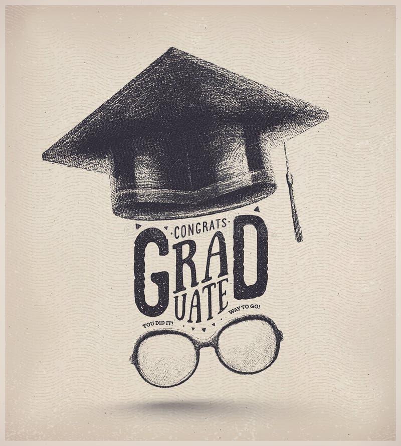 Avläggande av examenår stock illustrationer