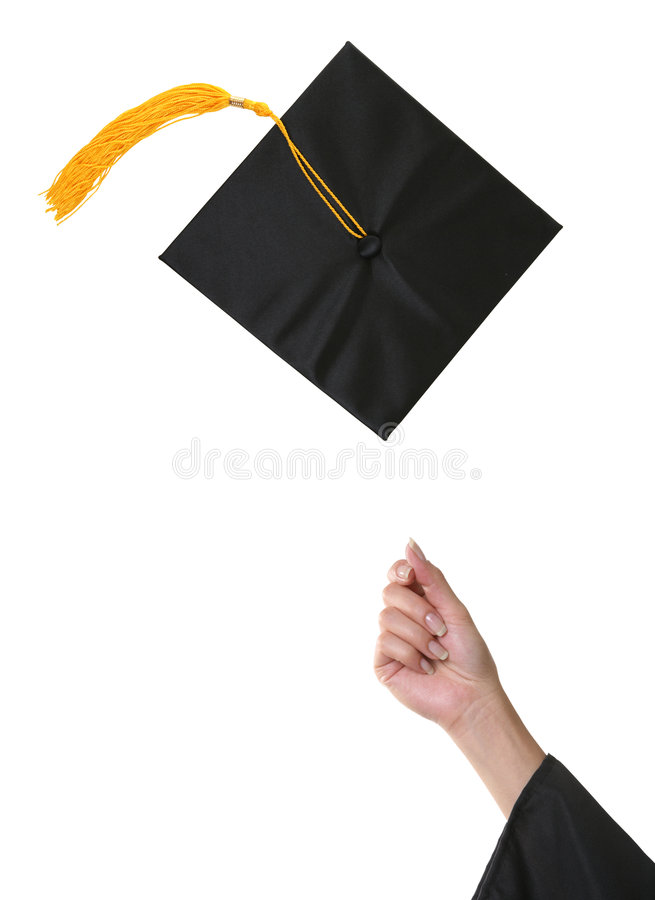 avläggande av examen arkivbild