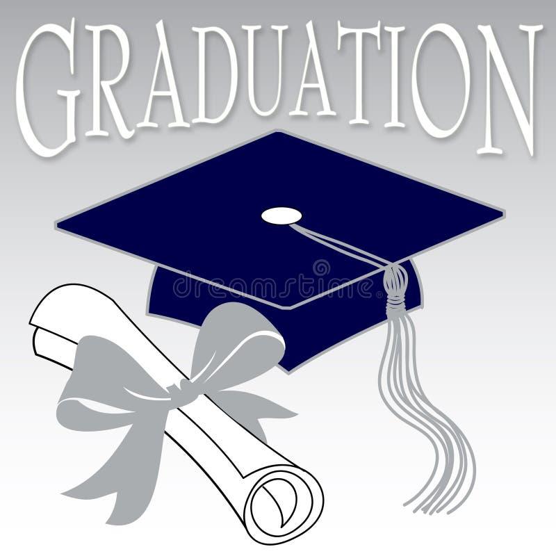 avläggande av examen stock illustrationer