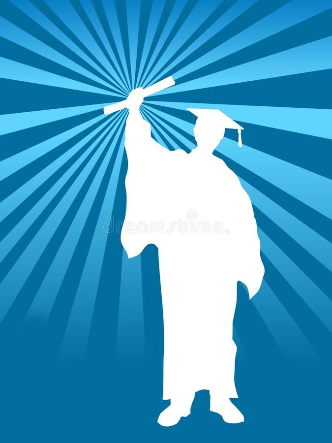 avläggande av examen för bakgrundsdag sista vektor illustrationer