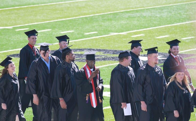 Avläggande av examen nordvästlig Oklahoma delstatsuniversitet royaltyfria foton