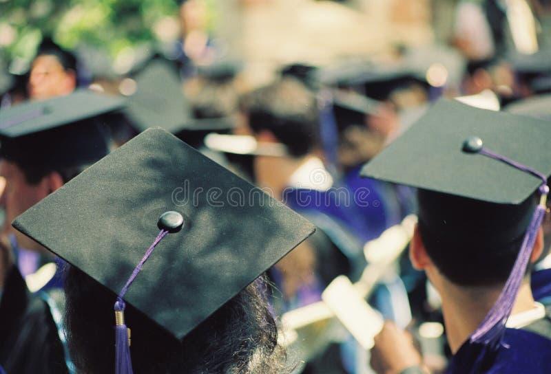 Avläggande av examendag i det howard universitetet arkivfoto