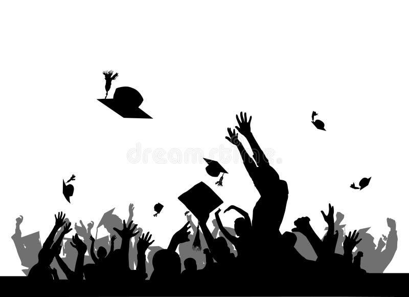 avläggande av examendeltagare stock illustrationer