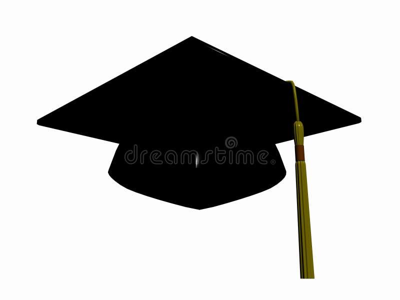 avläggande av examenhatt royaltyfri illustrationer