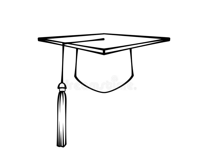 Avläggande av examenlockhatt Studentsymbol r vektor vektor illustrationer