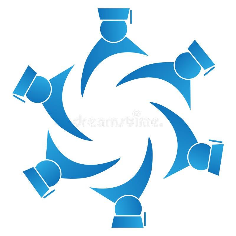 avlägger examen logoteamwork royaltyfri illustrationer
