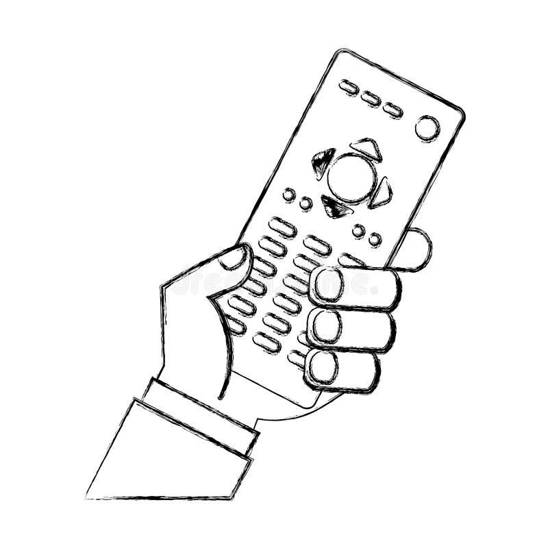Avlägsen contgroltvsymbol royaltyfri illustrationer