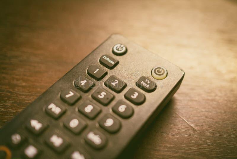 Avlägsen kontrollant för kabel-TV med nummerblocket arkivfoton