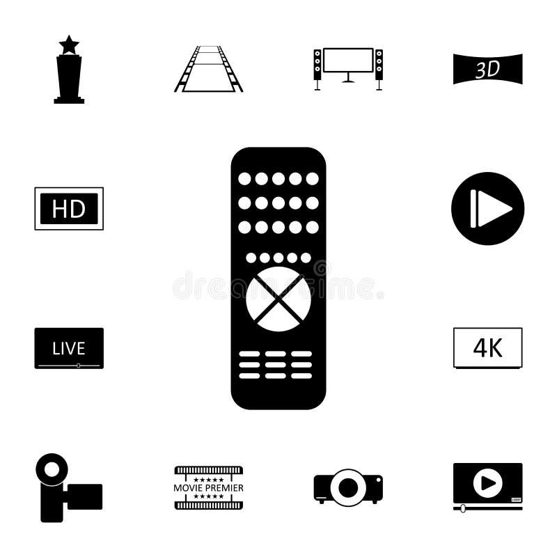 Avlägsen kontrollantsymbol Detaljerad uppsättning av biosymboler Högvärdig kvalitets- symbol för grafisk design En av samlingssym stock illustrationer