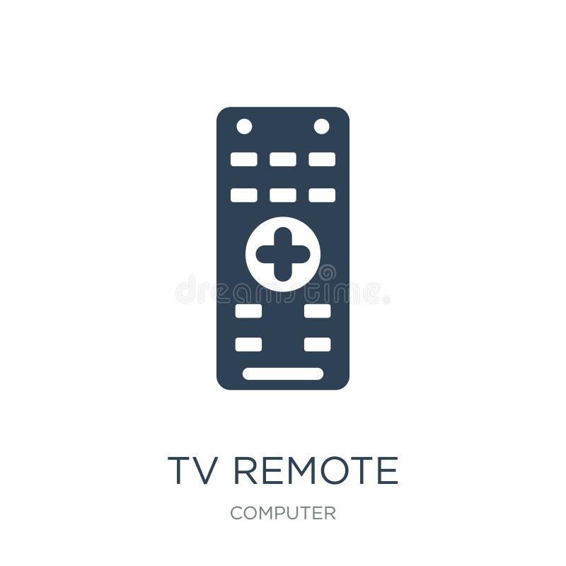 avlägsen symbol för tv i moderiktig designstil avlägsen symbol för tv som isoleras på vit bakgrund för avlägsen enkel och modern  stock illustrationer