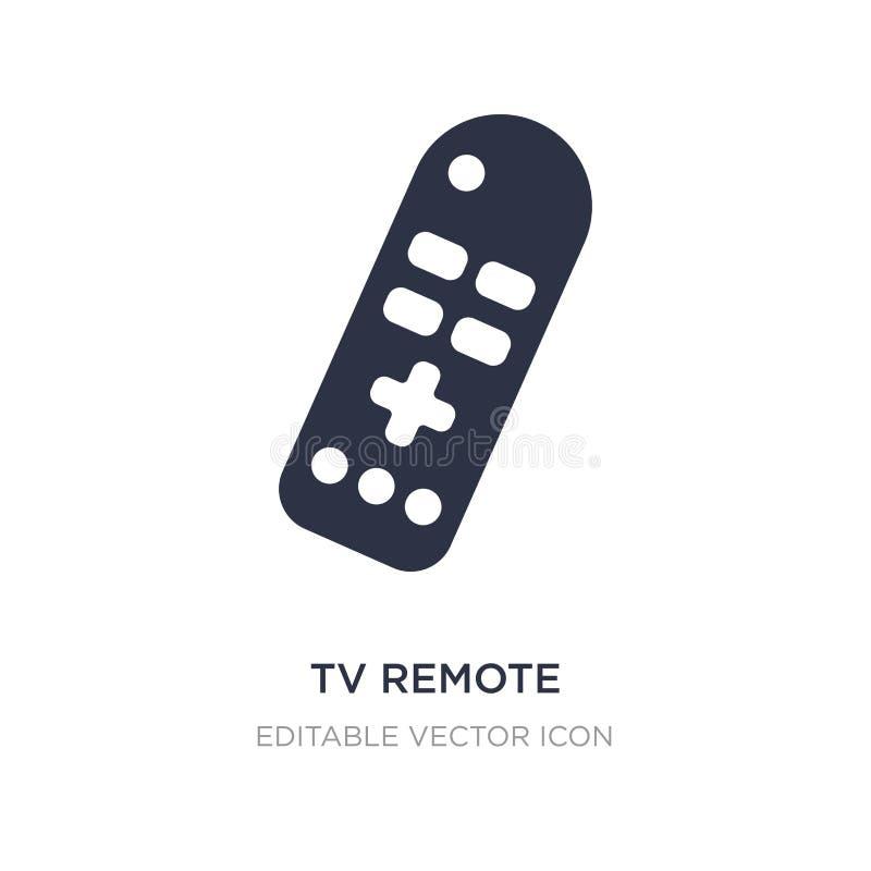 avlägsen symbol för tv på vit bakgrund Enkel beståndsdelillustration från datorbegrepp stock illustrationer