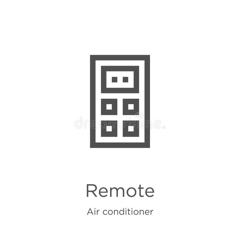 avlägsen symbolsvektor från luftkonditioneringsapparatsamling Tunn linje avl?gsen illustration f?r ?versiktssymbolsvektor Översik royaltyfri illustrationer
