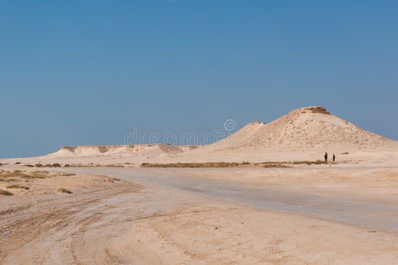 Avlägsen tom sand fyllde öknen i den mellersta öst royaltyfri fotografi