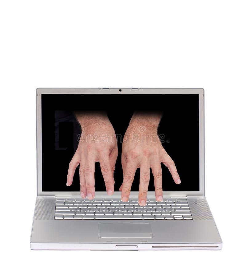 Avlägset tillträde för dator royaltyfria bilder