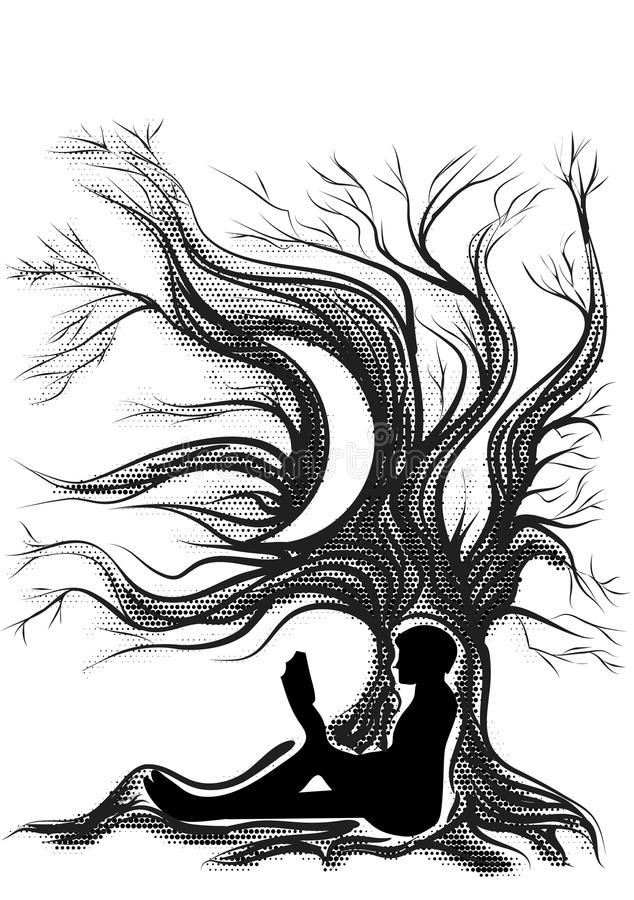Avläsare Escape royaltyfri illustrationer