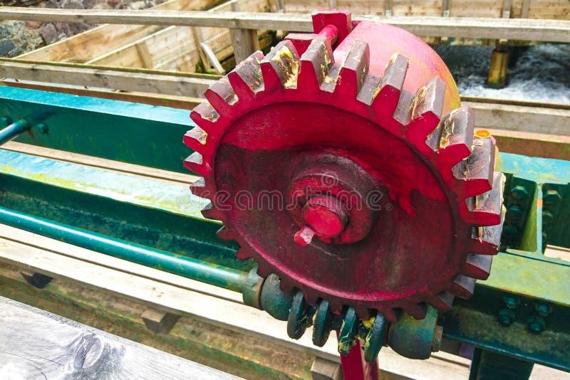 Avmaska kugghjulet och kugghjultandhjulet royaltyfri fotografi