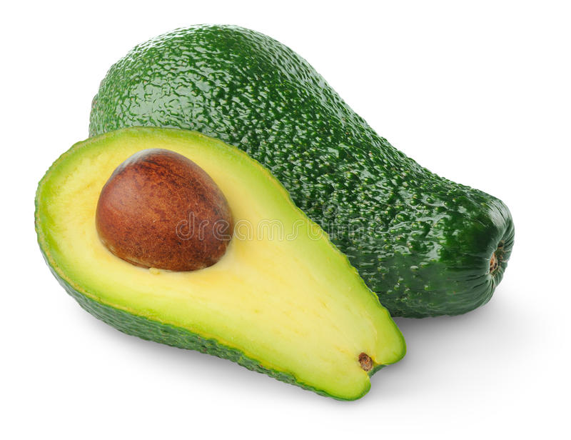 Download Avocado stock image. Image of vegetable, half, food, white - 18188217