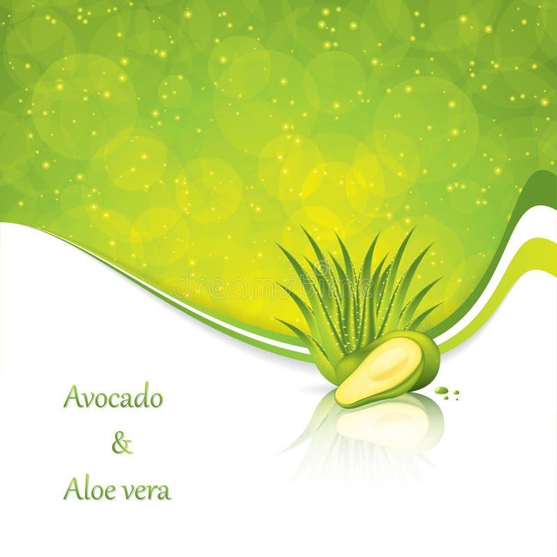 Download Avocado and Aloe Vera stock illustration. Illustration of herb - 30268152