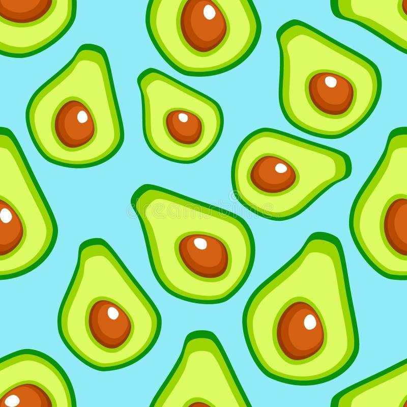 Avocado bezszwowy wzór dla druku, royalty ilustracja