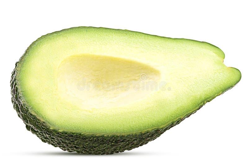 Avocado ciący w połówce kopcującej zdjęcia royalty free
