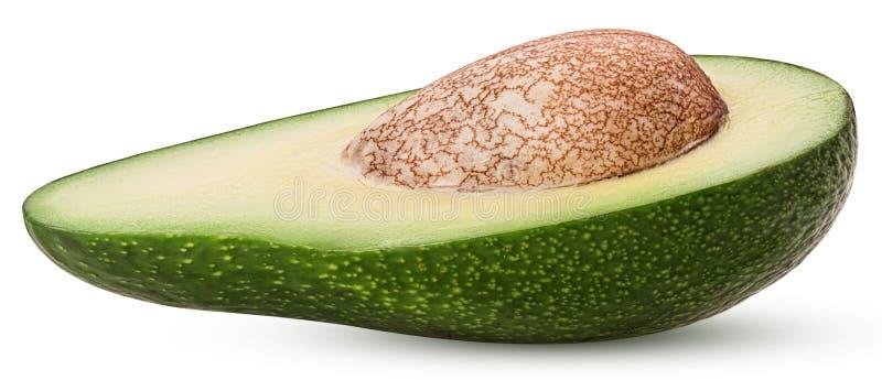 Avocado ciący w połówce z kością zdjęcia stock