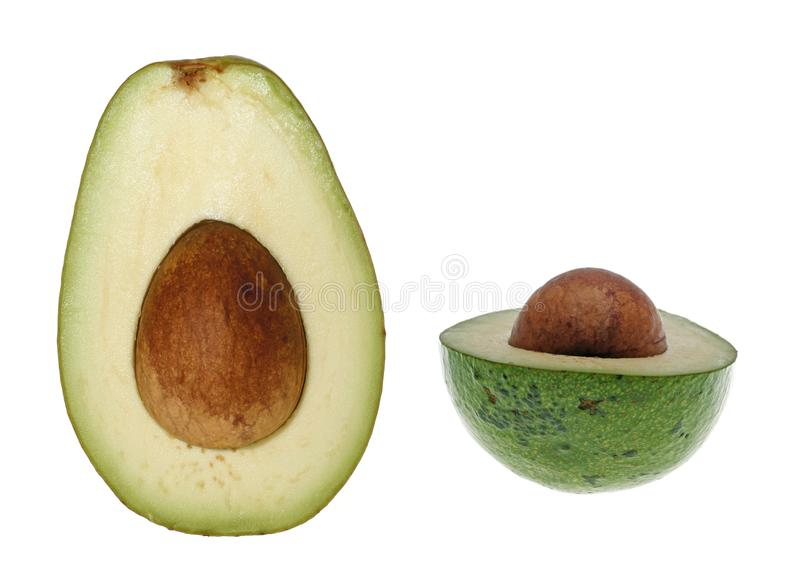 Avocado cięcie obraz royalty free