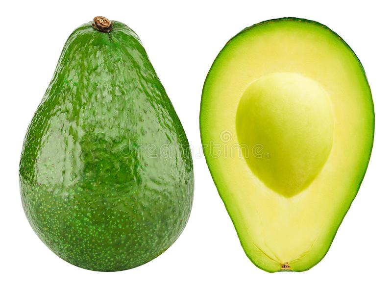 Avocado isolated on white royalty free stock images